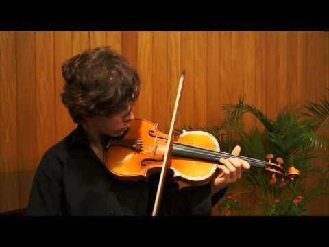 Igor Garcia - Manhattan School of Music - Pre-screening audition - Bach Sonata No 1 Fuga