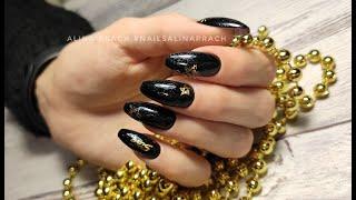 Смена формы Балерина Коррекция ногтей гелем Комбинированный маникюр Дизайн на всех ногтях