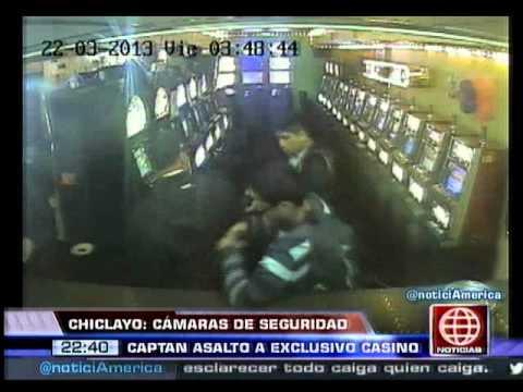América Noticias - 261113 - Chiclayo: cámaras de seguridad captaron asalto a exclusivo casino