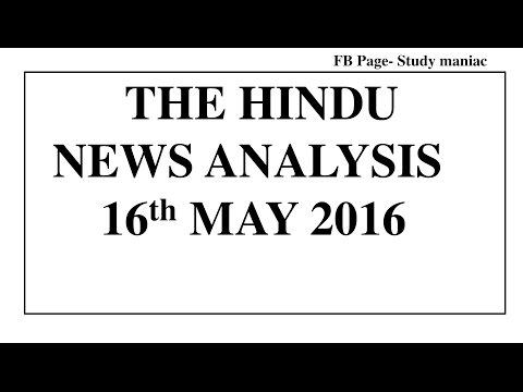 (HINDI) 16 May 2017 The Hindu News Analysis[Palestine, Ransomware, Trade Deficit]