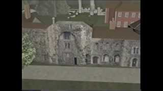 Medieval town and Abbey of Bury St Edmunds in  a VR model