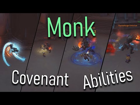 ALL MONK COVENANT ABILITIES - World Of Warcraft Shadowlands Alpha