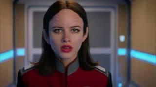 The Orville - Halston Sage (Lt. Alara Kitan) Interrupted Someone