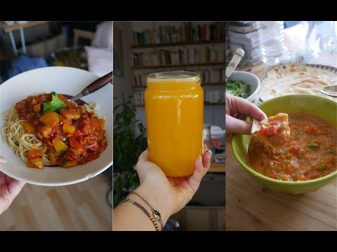 What I eat in a day - automne VEGAN thumbnail