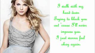 Repeat youtube video Mean - Taylor Swift - lyrics
