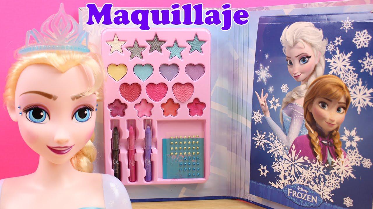 Libro De Maquillaje De Frozen Maquillar A La Muñeca Elsa Y Anna Juguetes De Frozen En Español