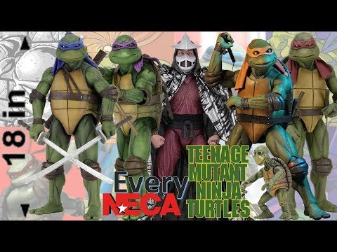 Every Teenage Mutant Ninja Turtles TMNT NECA 18in Movie Comparison List