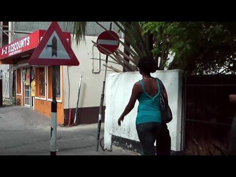 Caribbean Sea '10 - St. Maarten - Philipsburg city life seen from an open bus window