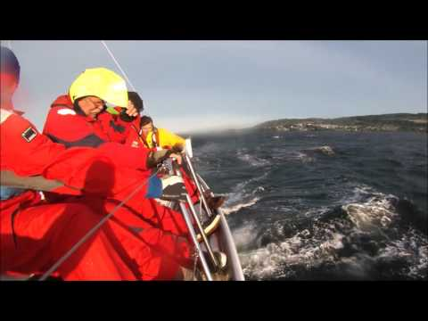 ION blasting into a gale high wind sailing May 7 2016 Beneteau 43 in Strait of Georgia