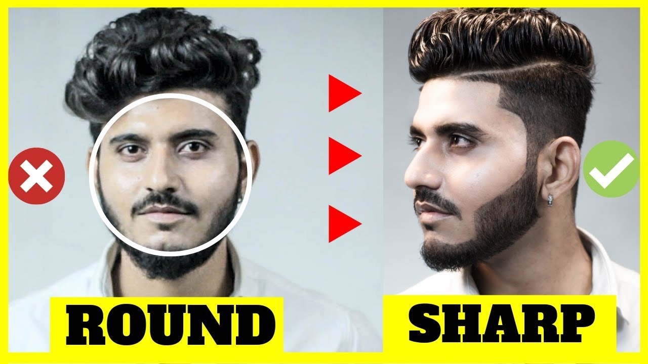 BEST Hairstyle for ROUND FACE men indian 2019