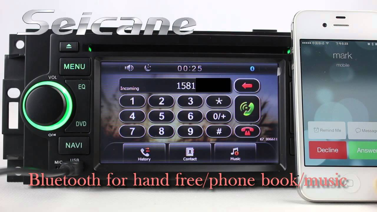 2004 2005 2006 Dodge Stratus Radio Replacement Upgrade With Aftermarket Gps Navigation Bluetooth