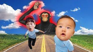 원숭이가 커졌어요! बंदर बड़ा है pretend play for kids & children funny story