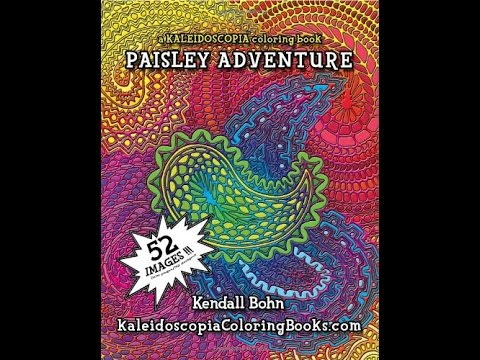Flip Through Kaleidoscopia Paisley Adventure Coloring Book by ...