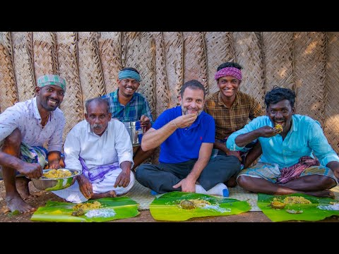 BIG MOMENT | RAHUL GANDHI Join In Village Cooking | Mushroom Biryani | Village Cooking Channel