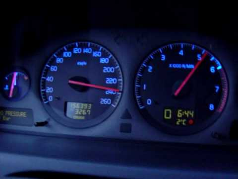 Volvo s60 T5 2001 100-260km/h - YouTube