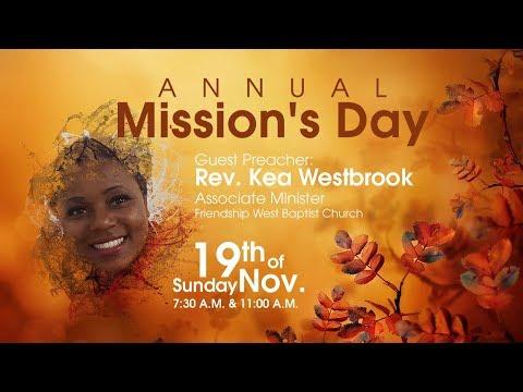 Antioch Missionary Baptist Church Morning Worship Service Nov. 19, 2017