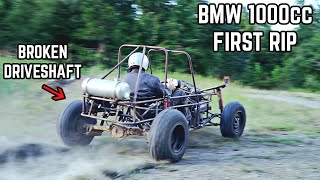 1000cc Trophy Truck Go Kart First Rip! 100HP Mini Trophy Truck Build