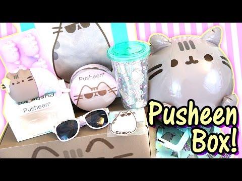 Pusheen Cat Box Summer 2016 - Kawaii Subscription Box Unboxing - So much Official Merch Cuteness!!