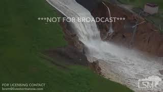9 22 2017 lake guajataca dam breach flash flood emergency helicopter footage hurricane maria
