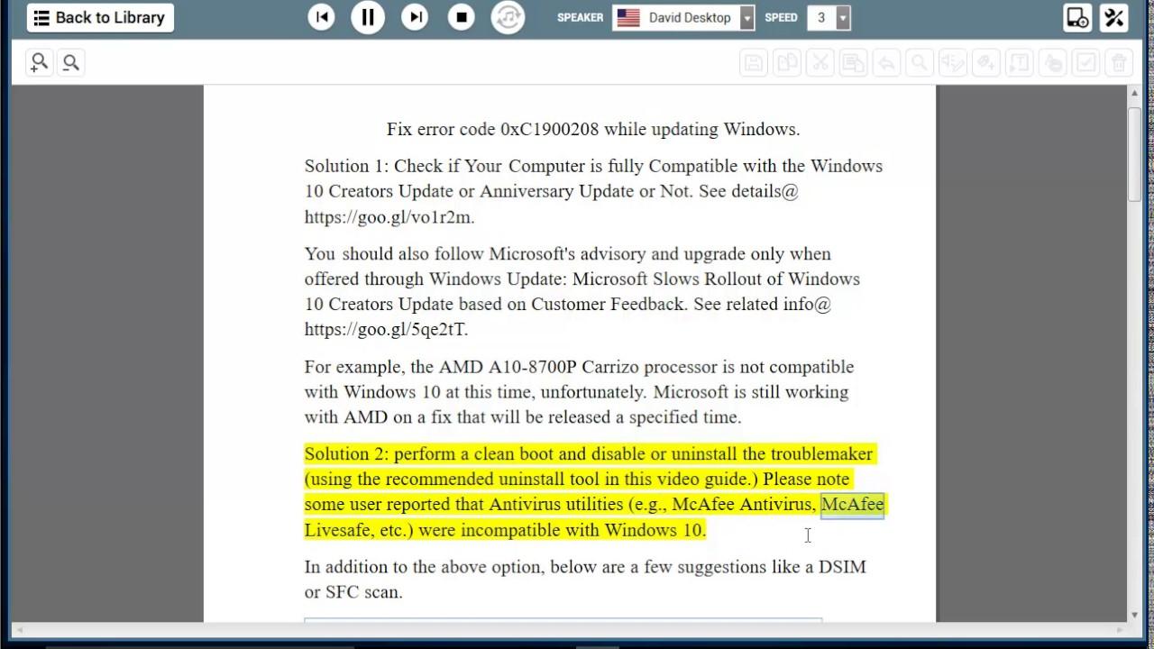 code for windows 10 update