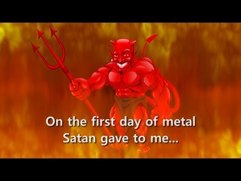 The 12 Days of Metal - Death Metal Christmas Parody Song @RogerBeaujard
