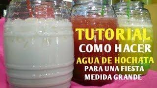 Cómo Hacer Agua De Horchata Para Una Fiesta (Cantidad Grande) - Madelin