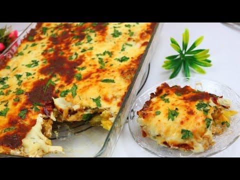 صينية شاورما الدجاج بالبطاطس مع أطيب صلصة بيضاء وجبة غداء او عشاء بطريقة سهلة وسريعة طعم خرافي