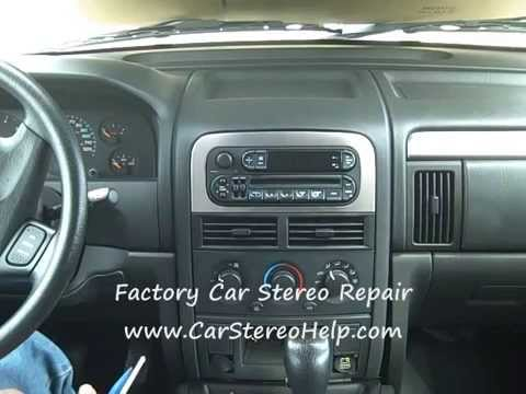 How to Jeep Grand Cherokee Car stereo Radio Removal replace cd