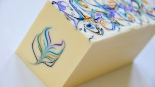 The Secret Feather Swirl Cold Process Soap