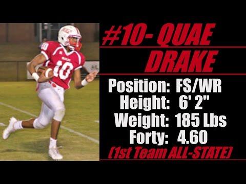 "2018- Street Light Recruiting DB-WR- Quae Drake (6' 2""- 185 lbs) -Wadley High School (AL)"