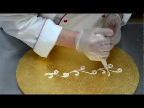 How to Pipe cakes patterns - Wedding cake piping tutorial