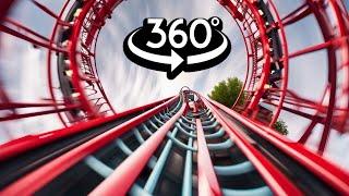 360 Video - Red Inversion VR Roller Coaster 4K