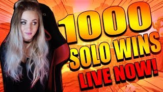 Fortnite - 1000 SOLO WINS THIS STREAM? LIVE GAMEPLAY NOW! 14000 ELIMINATIONS.