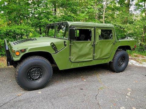 Test driving Humvee