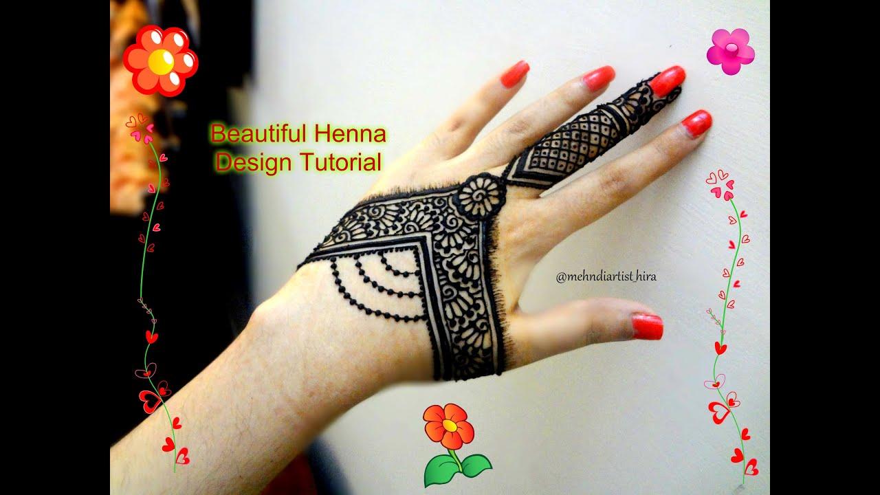 Beautiful Henna Mehndi Jewellery : Simple jewellery mehndi design fantastic minimalist domseksa