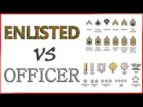 Army ENLISTED Vs OFFICER | Roles And Responsibilities