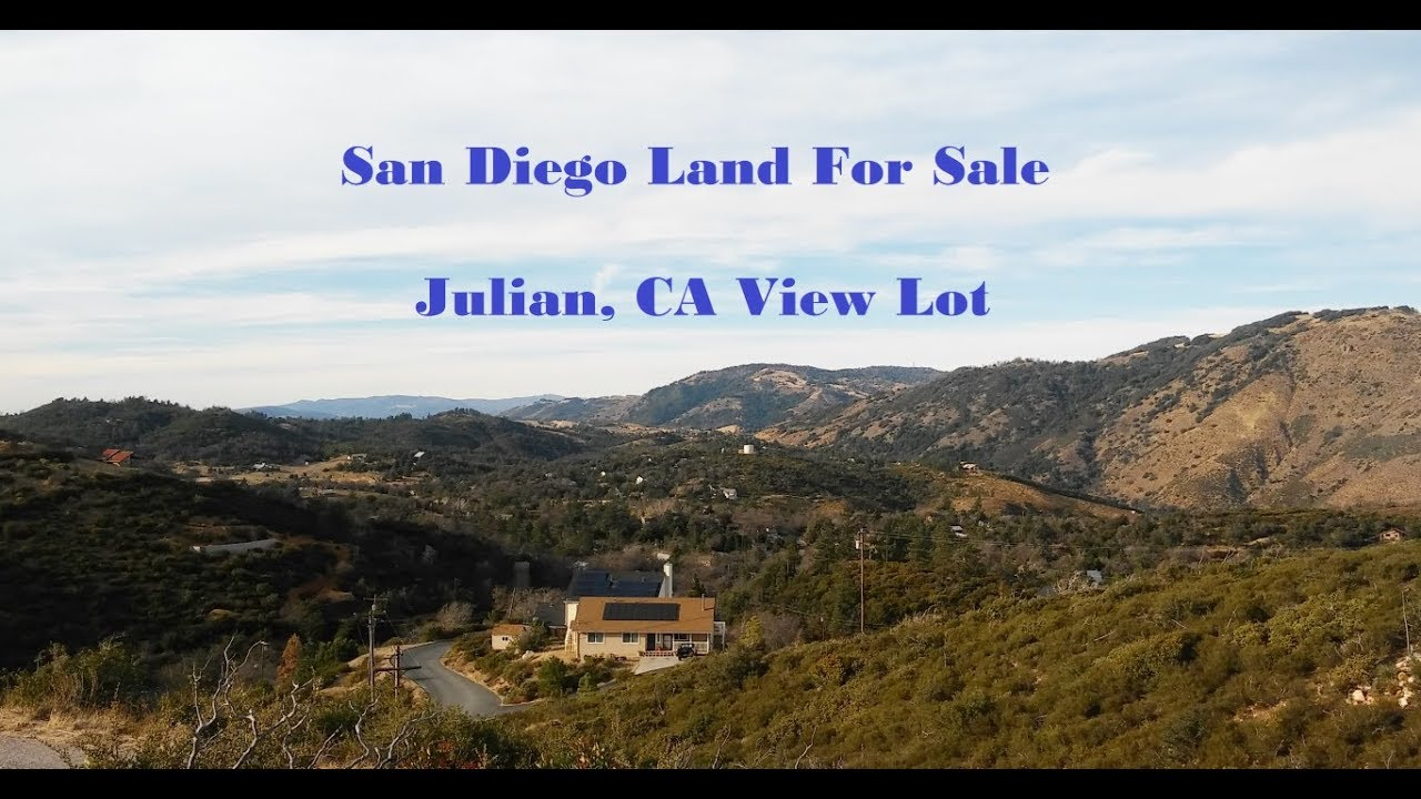 Julian, California Land For Sale - San Diego View Lot