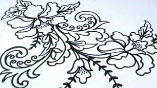 Menggambar Bunga Batik Paling Mudah By Kreasi Gambar