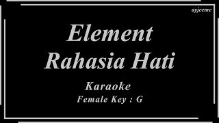 Download Lagu Element - Rahasia Hati (Female Key) Karaoke Piano Version | Ayjeeme mp3