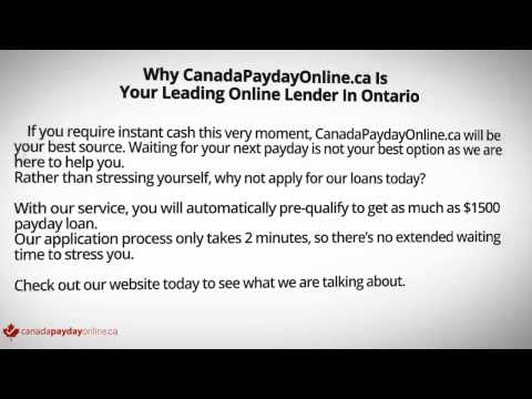 Online Payday Loans In Ontario