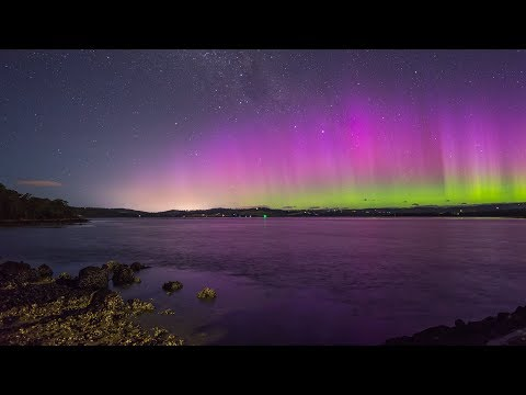 Aurora Australis: Christmas Eve, 24 December 2017, Tasmania