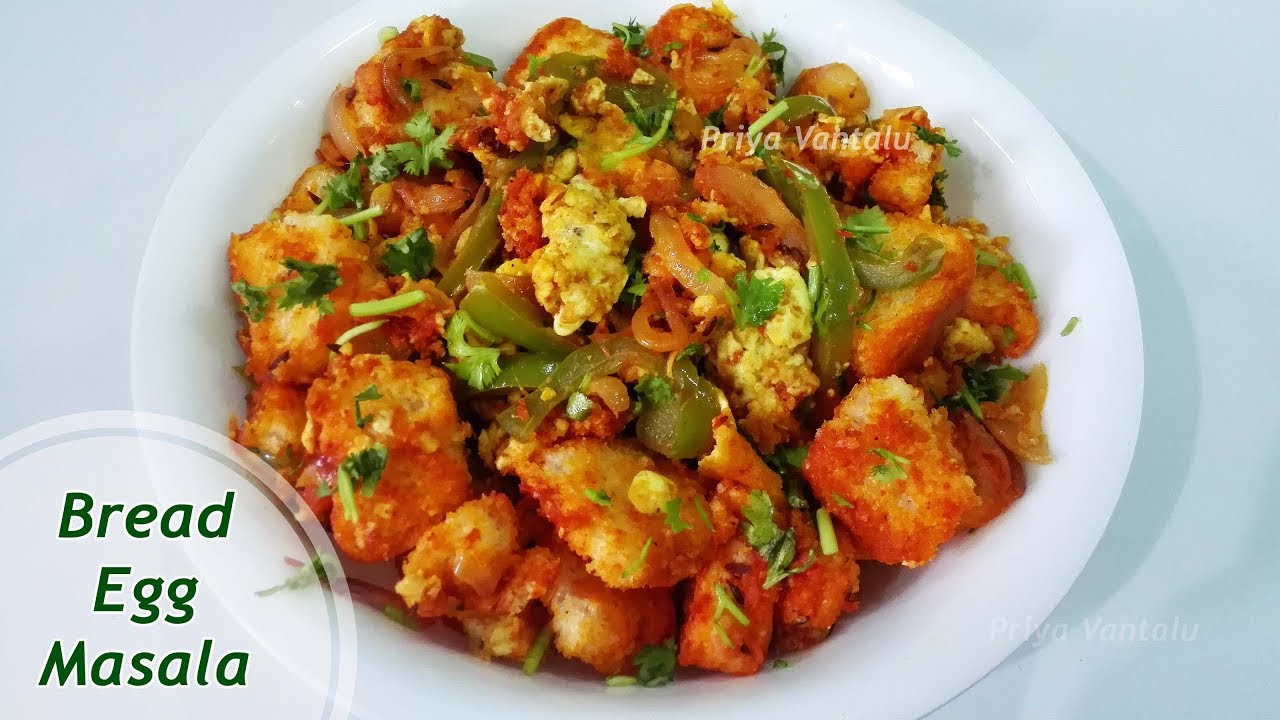 Bread Egg Masala Quick N Easy Breakfast Recipe