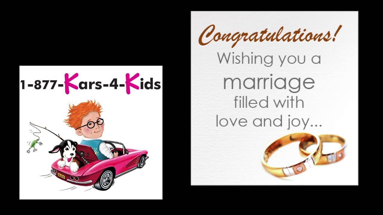 congratulations lenny and jillian on your wedding from kars for kids youtube