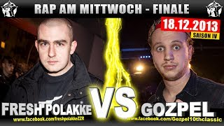 RAP AM MITTWOCH: Fresh Polakke vs Gozpel 18.12.13 BattleMania Finale (4/4) GERMAN BATTLE