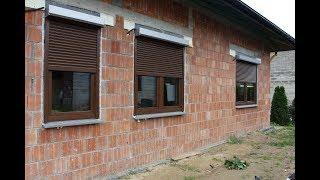 Budowa domu KROK PO KROKU etap 8: okna, rolety zewnętrzne, ciepły montaż