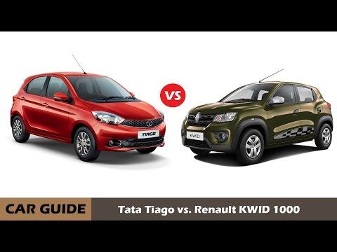 Renault Kwid 1000 vs Tata Tiago petrol, comparison and reviews |car guide|