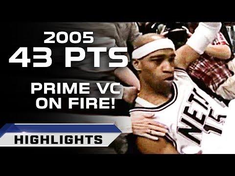 Prime Vince Carter Highlights vs 76ers - UNSTOPPABLE! (04.17.2005)