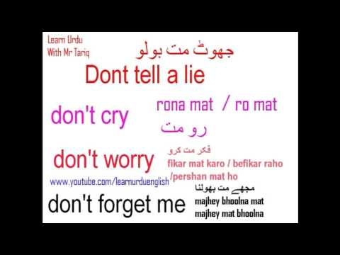 Lesson fourteen ~ 4 Urdu Common Sentences [Learn Urdu With Mr Tariq]