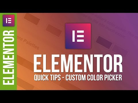 Master Your Color Palettes in Elementor for WordPress 😀 - 동영상