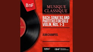 Partita for Violin Solo No. 1 in B Minor, BWV 1002: VII. Tempo di Borea